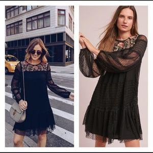 Dresses & Skirts - Anthropologie Maeve Black Sarama Tunic Dress Large